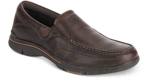 Rockport Eberdon Apron Toe Comfort Loafers In Brown For