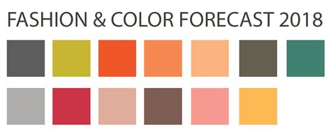 pantone color forecast 2017 fashion color forecast 2018 updated back to brain