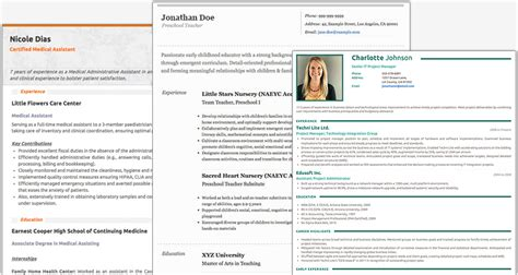Professional Resume Online by Free Resume Builder Websites And Applications The Grid