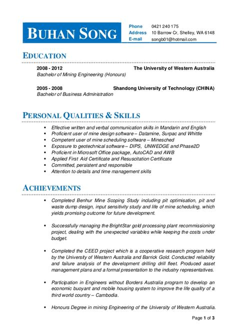 resume buhan song