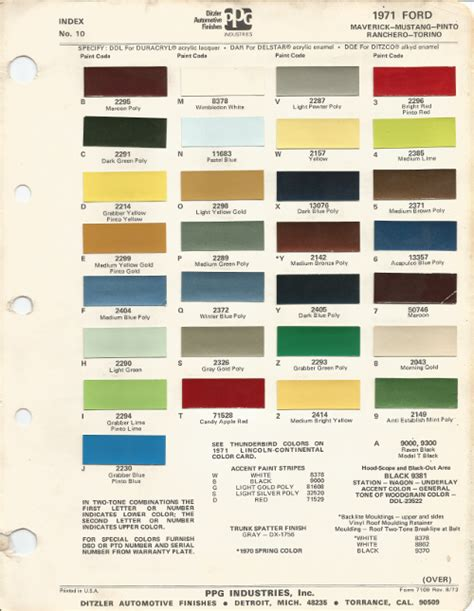 1971 ford mustang car paint colors urekem paints