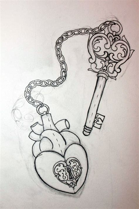couples heart and key tattoos and key designs for couples cool tattoos