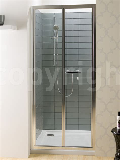 Folding Glass Shower Door Simpsons Edge 1000mm Bifold Shower Door