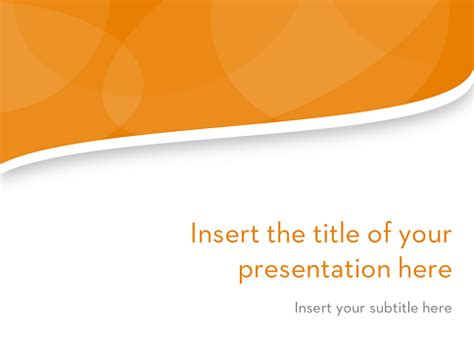 Clean Wavy ? Free Template for PowerPoint and Impress