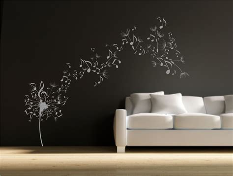 wall vinyl dandelion clock seeds music note wall decal sticker