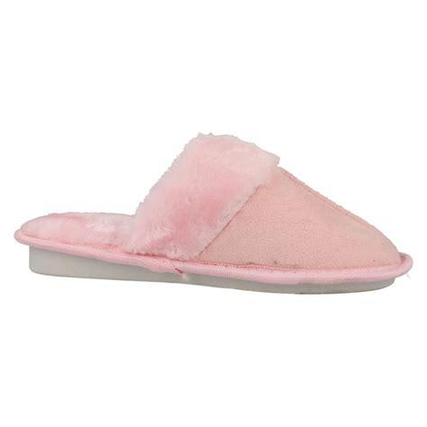 slippers with memory foam memory foam fur trim mule slippers ebay