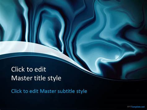 free blue abstract ppt template