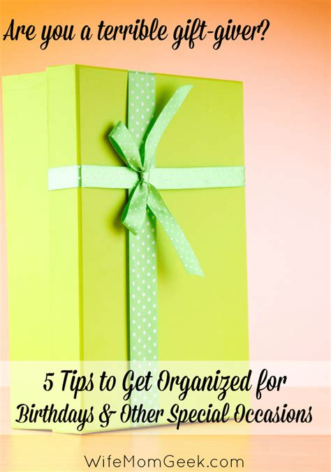 Can You Leave A Tip On A Gift Card - 5 tips to get organized for birthdays and special occasions