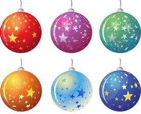 christmas tree balls with stars vector vector graphics blog