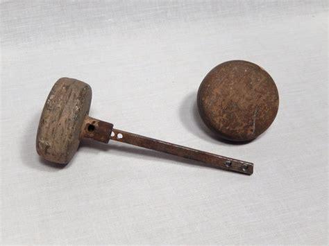 How To Attach Door Knobs To Wood by Antique Wood Metal Door Knob Set Door Hardware By
