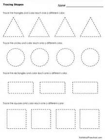 shape tracing templates tracing shapes worksheet nuttin but preschool