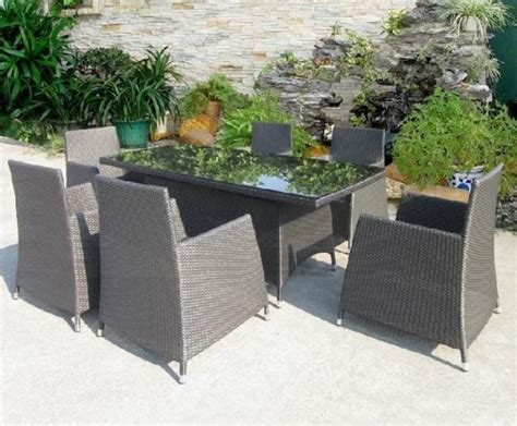 details of china rattan hotel garden table and chair