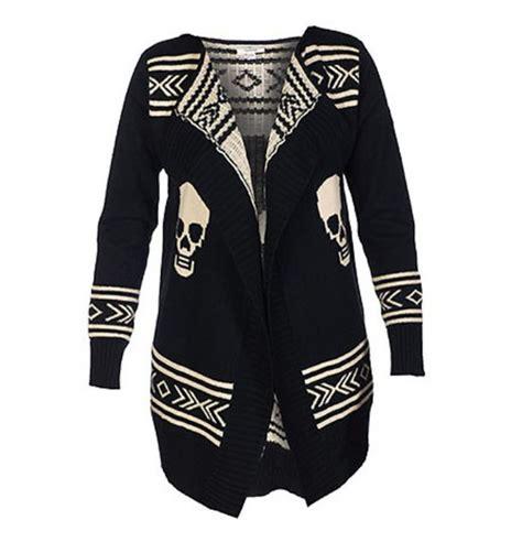 Sweater Black Skull sweater aztec sweater black white skull sweater wheretoget
