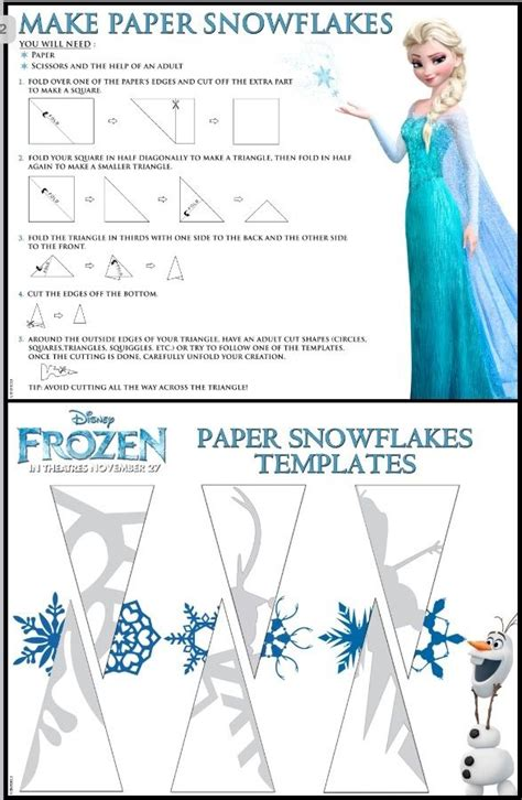 How To Make A Small Paper Snowflake - 25 unique snowflake template ideas on paper