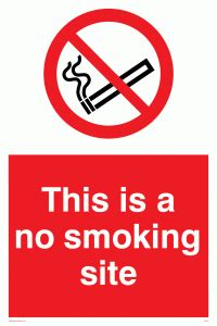 no smoking sign location this is a no smoking site from safety sign supplies