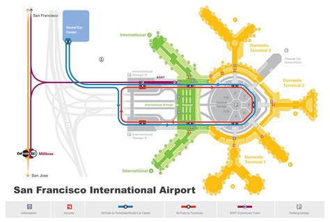 san francisco rental map san francisco airport map