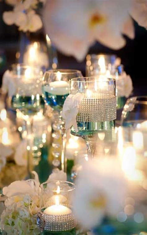 wedding reception with candles caribbean islands blue weddings archives