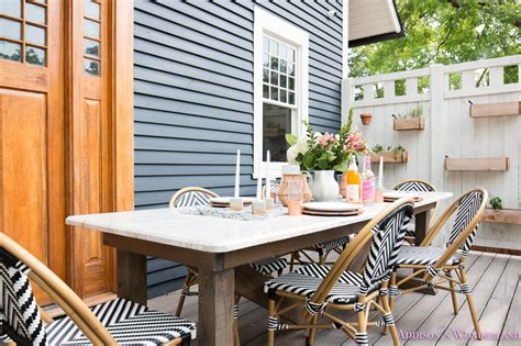 market outdoor table outdoor dining table decor the cutest bistro chairs
