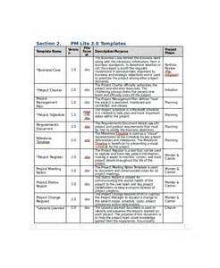 it project template 8 project documentation templates free sle exle