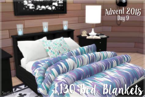 simblob  jonesi bed blanket recolours sims  updates sims  beds sims  bedroom sims