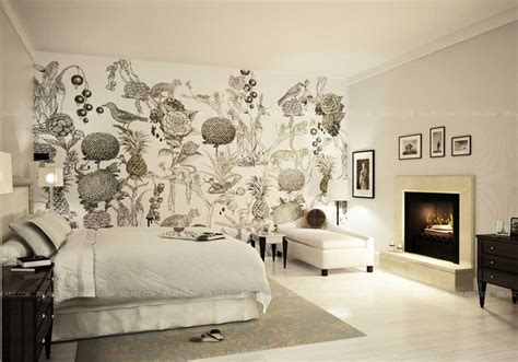 3d Wall Designs Bedroom Bedroom Concept Design With Wall Paper Tokyo Japan