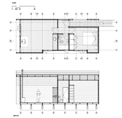 test plan sections colico workshop cavagnaro rojo arquitectos archdaily
