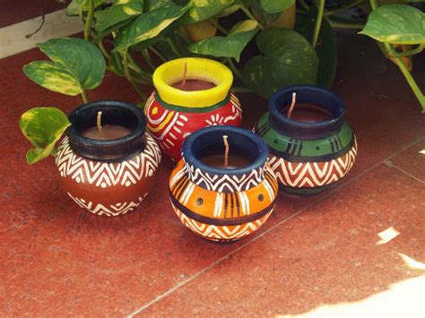 Handmade Pots Design - matki candles handmade candles in the traditional indian