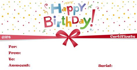 happy birthday certificate templates free happy birthday voucher gallery