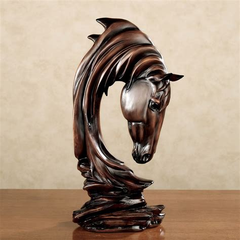 decorative statues for home horse solitude table sculpture