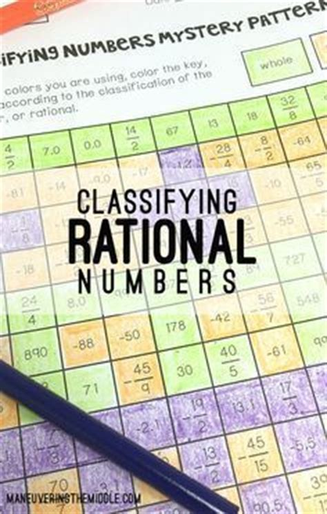 pattern in whole numbers student crayons and rational numbers on pinterest