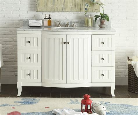 bathroom vanities beach cottage style 49 inch bathroom vanity cottage beach style beadboard