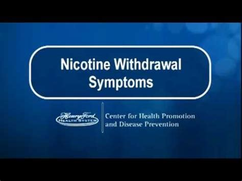 Technology Detox Symptoms by Nicotine Withdrawal Symptoms