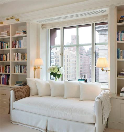 window daybed built in bookcases either side of daybed and nick