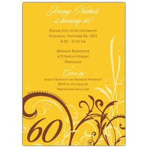 cabiri gold 60th birthday invitations paperstyle