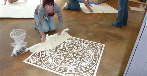 Decorative Floor Painting Ideas How To Create Concrete Floor Graphics The Concrete Network