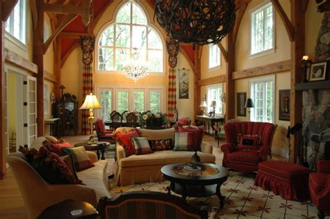 English country cottage traditional living room detroit by periwinkle designs