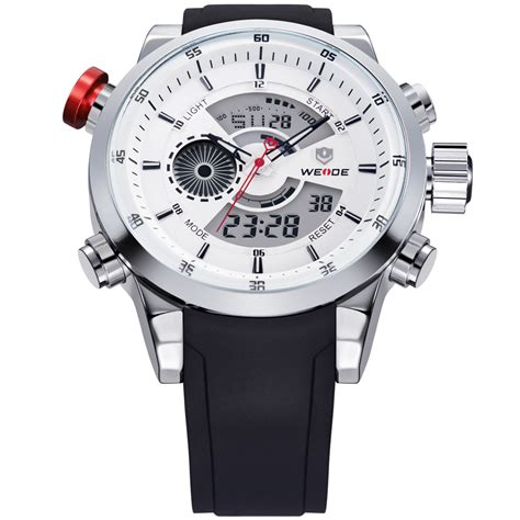 New Jam Tangan Pria Weide Wh1104 Original Water Resist 30m Murah japan weide jual weide japan quartz miyota leather sports weide japan quartz