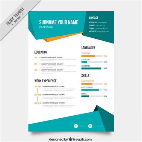 template cv menarik gratis word plantilla curriculum resumen descargar vectores premium