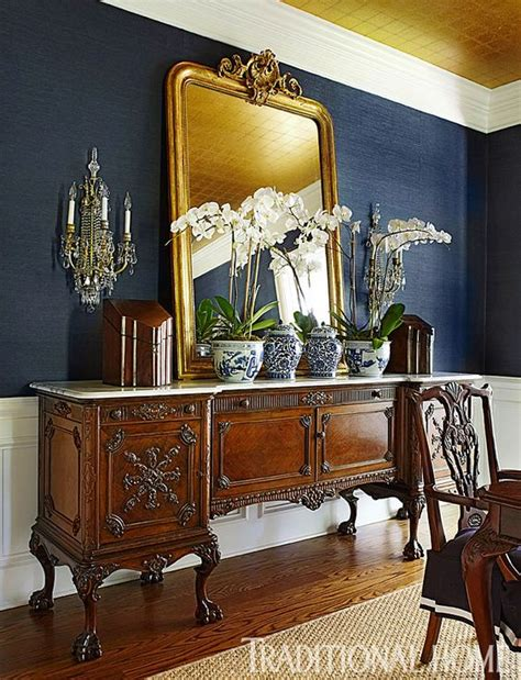 Vintage Dining Room Mirrors New Homes Traditional Homes And Indigo On