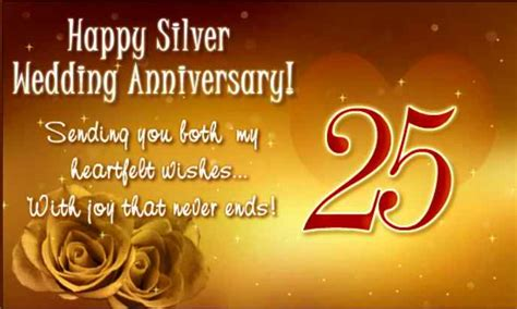 Silver Jubilee Wedding Anniversary Wishes Sms by Happy 25th Wedding Marriage Anniversary Wishes For