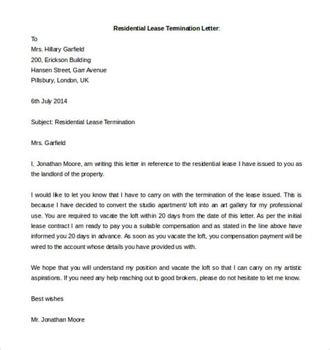 Termination Of Residential Lease Letter cancellation letter due to illness 28 images how to