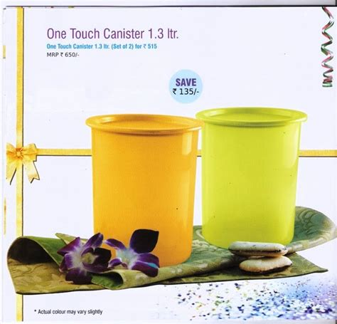 Tupperware 20 Oz One Touch Canister 4pcs tupperware bangalore tupperware week 43 fact sheet