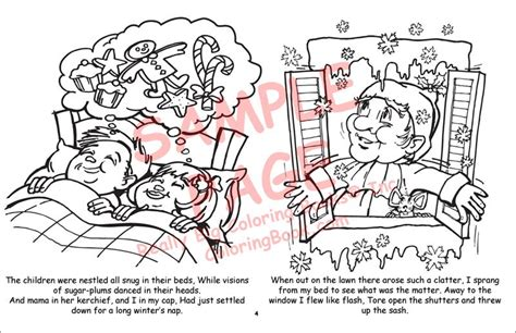 Coloring Books Twas The Night Before Christmas Twas The Before Printable Coloring Pages