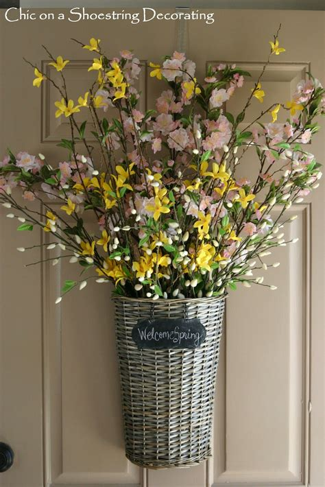 spring decorating ideas for your front door chic on a shoestring decorating spring front door decor