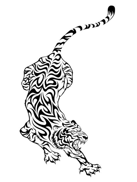 simple tiger tattoo designs tribal tiger design