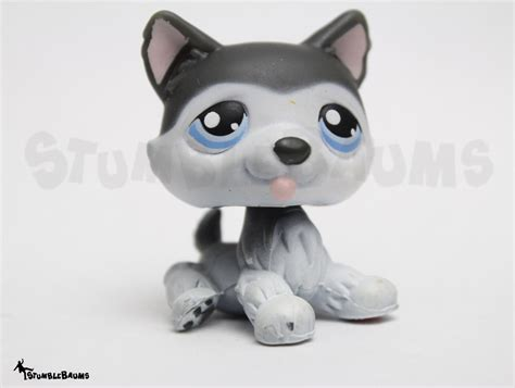 lps husky puppy littlest pet shop 210 gray white sitting siberian husky puppy lps what s