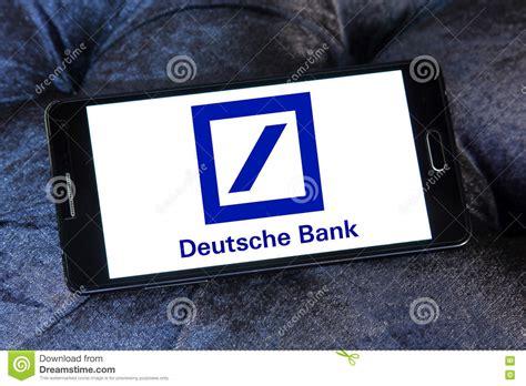 deutsche bank lindenthaler straße deutsche bank embleem redactionele foto afbeelding