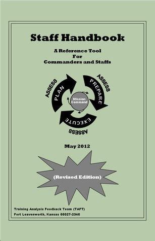 us army staff handbook: a reference tool for commanders