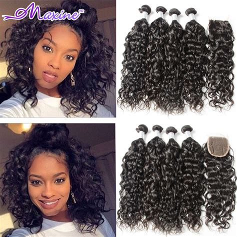 brazilian water wave virgin hair with closure wet and wavy hair 3 aliexpress com buy wet and wavy brazilian virgin hair