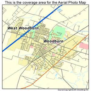 aerial photography map of woodburn or oregon